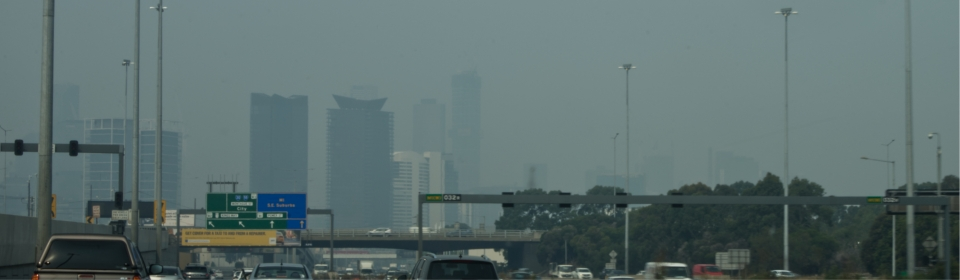 Melbourne Bush Fire Smoke Haze