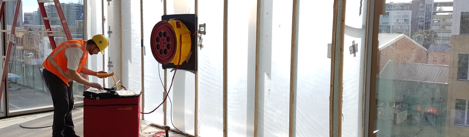 Building Air Tightness & Facade Leakage Testing