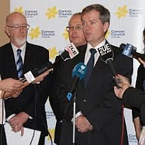 Bill Shorten at press conference during Asbestos Summit 2