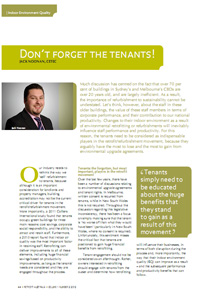 Don't Forget the tenants article